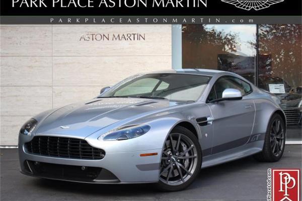 2015 Aston Martin Vantage Gt Skyfall Silver Argento Grey Leather Obsidian Black Plisse Alcantara 18k Miles Gator Motorsport