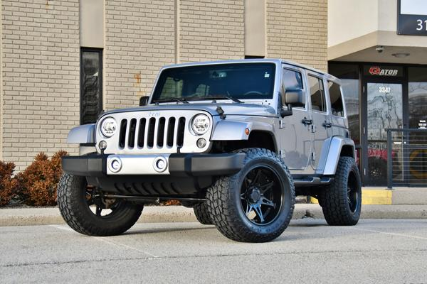 Sold 2015 Jeep Wrangler Unlimited Sahara Billet Silver Metallic Black 41k Miles 12k In Upgrades Thank You R P And S P From Fishers In Gator Motorsport